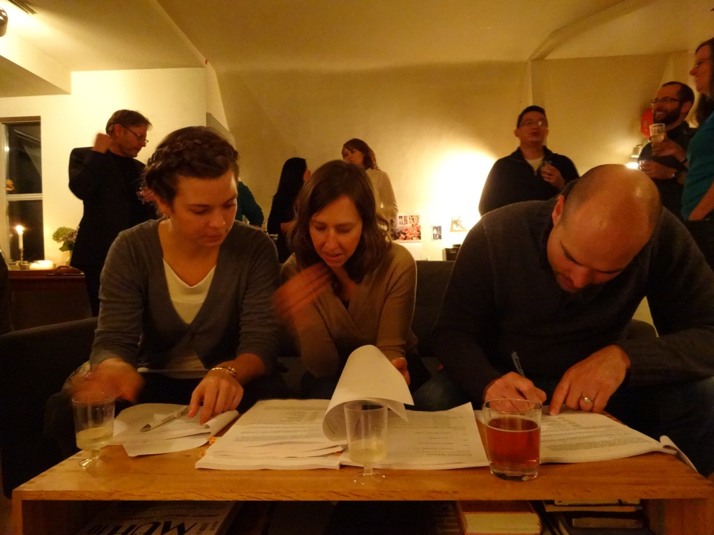 (pictured above: Shiloh Minor (GCBC), Erin Thrift (SCS) and Michael Guenter (Co:Here Foundation) signing agreement )