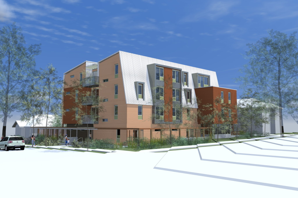 Model of 26-unit Affordable Housing Project